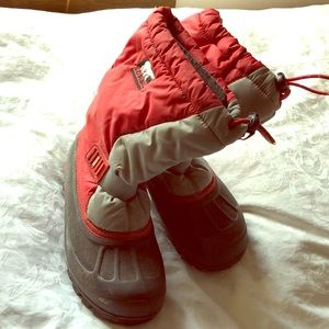 Sorel Red Kids Winter Boots excellent size 4